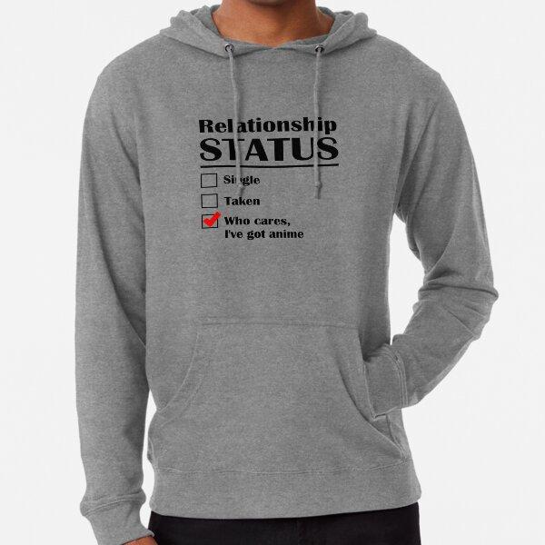 Relationship Status Anime Lightweight Hoodie