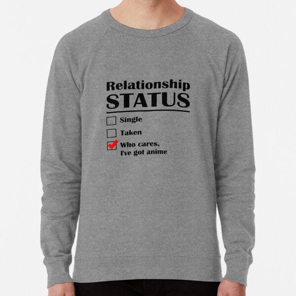 Statut de la relation Anime Sweatshirt léger