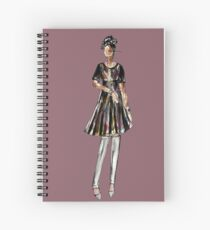 Saturday Night Party (Purple Version) Spiral Notebook