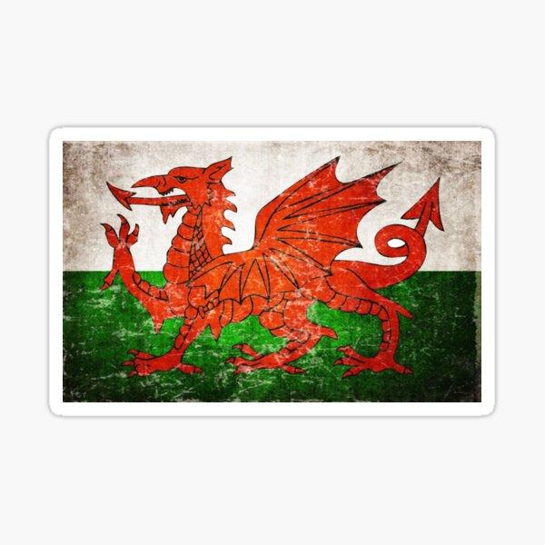 Wales Flagge Sticker