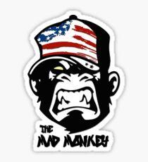 Crazy Donald Mad Monkey 3 Ape Amerika Stars and Stripes Biker Thug Life Amerika Sticker