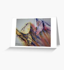 Watercolour: Butterflies Are Flying Greeting Card
