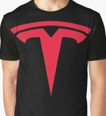 Tesla Car Logo Graphic T-Shirt