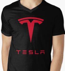 Tesla Car Logo Men's V-Neck T-Shirt