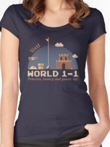 WORLD 1-1 Women's Fitted Scoop T-Shirt