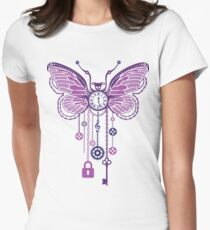 Metal butterfly Womens Fitted T-Shirt