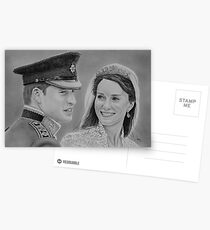"""""""William and Kate"""" Duke and Duchess of Cambridge Postcards"""