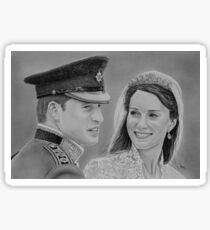 """William and Kate"" Duke and Duchess of Cambridge Sticker"