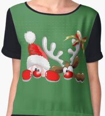 Funny Christmas Santa Chiffon Top