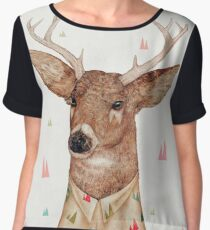 White-Tailed Deer Chiffon Top