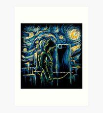 Starling Night (Arrow & Van Gogh) Art Print