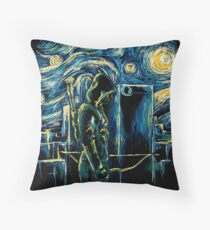Starling Night (Arrow & Van Gogh) Throw Pillow