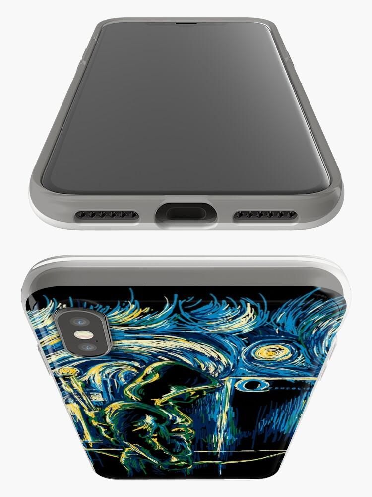Vista alternativa de Vinilos y fundas para iPhone Starling Night (Arrow y Van Gogh)