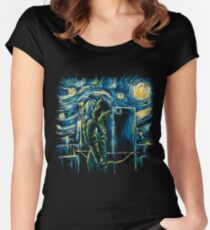 Starling Night (Arrow & Van Gogh) Women's Fitted Scoop T-Shirt