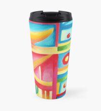 abstract VIII. oil Travel Mug