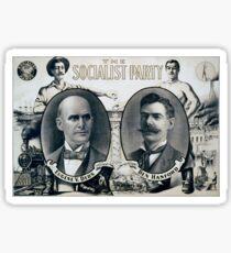 Antique Political Poster - Eugene Debs, Socialist Party, 1904 Sticker