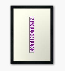 EXTINCTION Framed Print