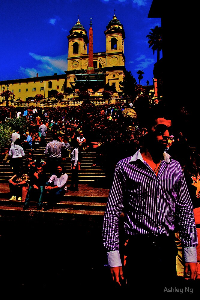 Popart Spanish Steps by Ashley Ng