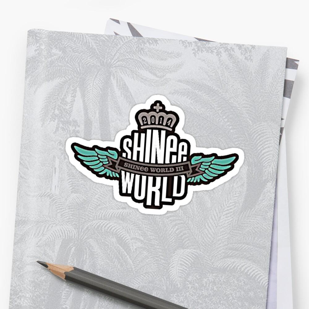 Shinee world 3 logo sticker by locksters redbubble