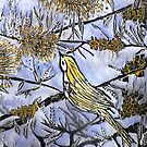 "Morning Song in Blue/Yellow by Belinda ""BillyLee"" NYE (Printmaker)"