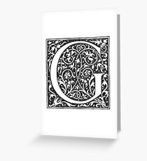 Capital G Greeting Card