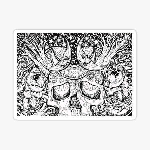 Magic Skull Sticker