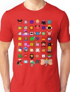 character squares Unisex T-Shirt