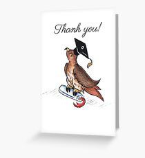 Red-Tailed Grad (Thank You Card) Greeting Card