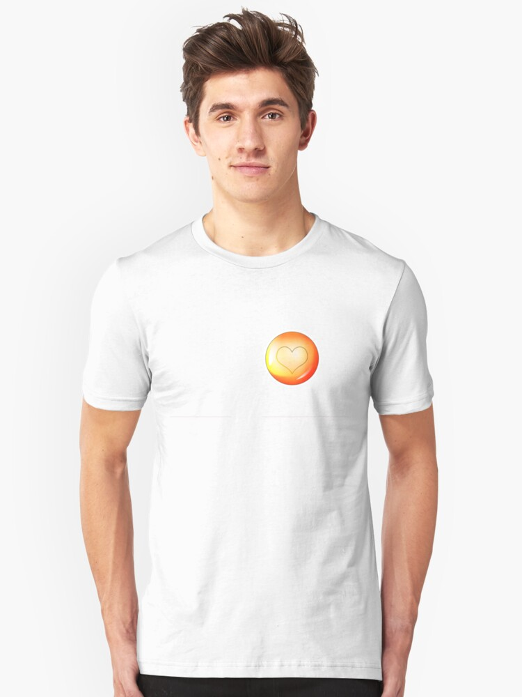 Heart in a Bubble Unisex T-Shirt Front