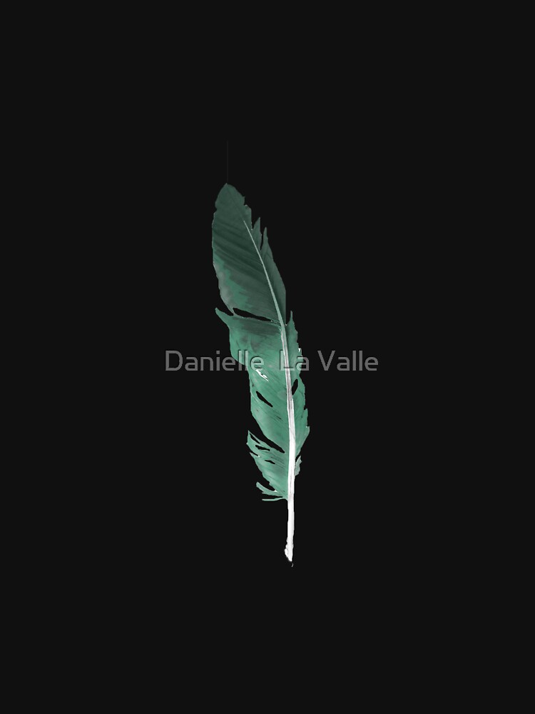 Green feather by DELAVALLE