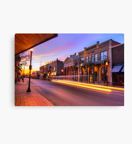 Bentonville Arkansas Skyline Sunrise Canvas Print