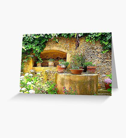 A Private Garden....................................Majorca Greeting Card