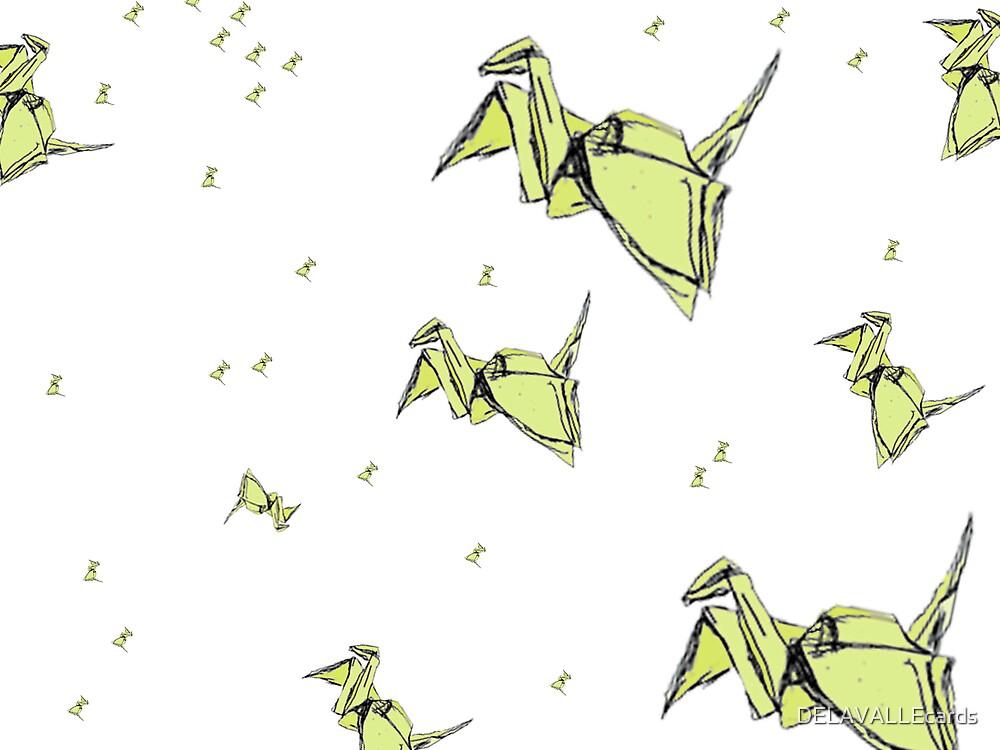 1000 Paper Cranes by DELAVALLEcards
