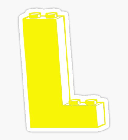THE LETTER L, Customize My Minifig Sticker