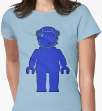 Banksy Style Astronaut Minifigure Womens Fitted T-Shirt