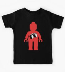 Red Minifig with 2 x 2 Corner Brick Logo, Customize My Minifig Kids Clothes