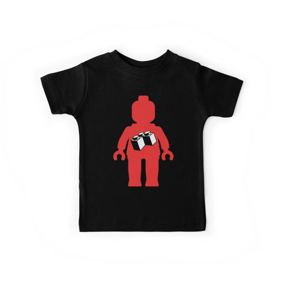 Red Minifig with 2 x 2 Corner Brick Logo, Customize My Minifig by Customize My Minifig