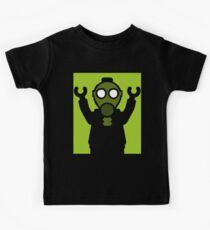 Apocalyse Minifigure wearing Gasmask Kids Tee
