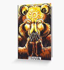 Inktober - Thank - Bear Greeting Card