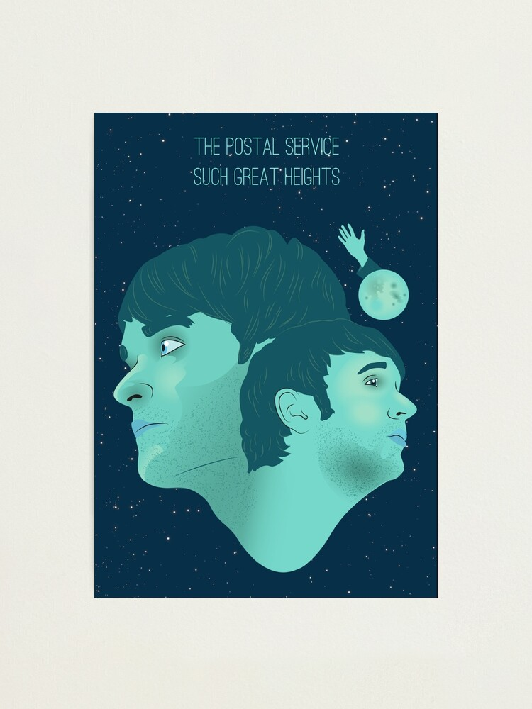 The Postal Service Such Great Heights Photographic Print By Dangreendraws Redbubble