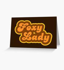 Foxy Lady - Retro 70s - Logo Greeting Card