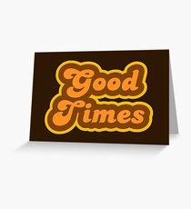 Good Times - Retro 70s - Logo Greeting Card