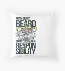 Great Beard  Throw Pillow