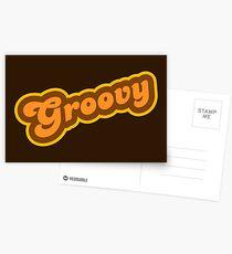 Postales Groovy - Retro 70s - Logotipo