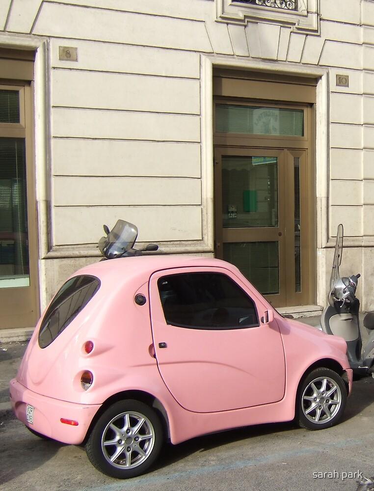 little pink car by sarah park