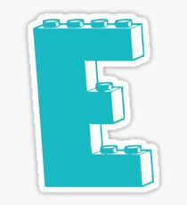 THE LETTER E, Customize My Minifig Sticker