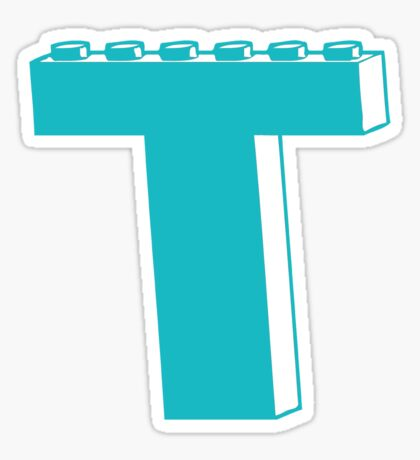 THE LETTER T, Customize My Minifig Sticker