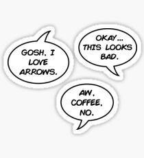 hawkeye comics quotes Sticker