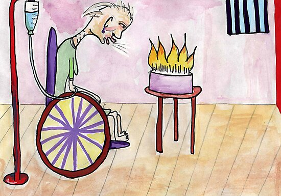 Wheelchair Birthday by John Douglas