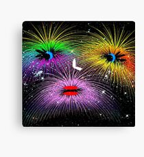 Facetious Fireworks Canvas Print